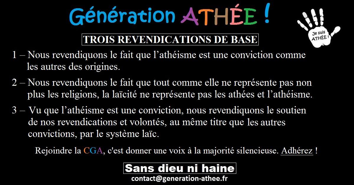 Très revendication Archives - Génération Athée AZ26